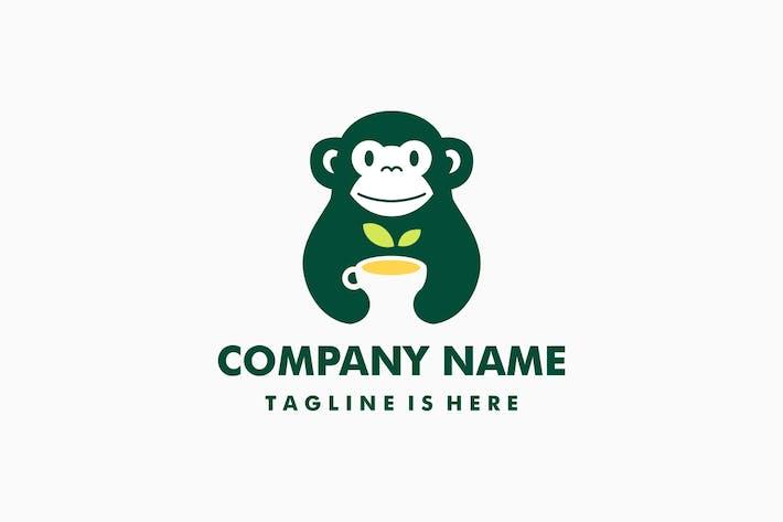 Cover Image For Monkey Tea Leaf Herb Logo