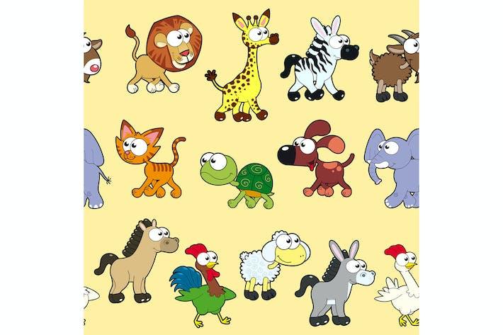 Thumbnail for Gruppe von Tieren mit Hintergrund