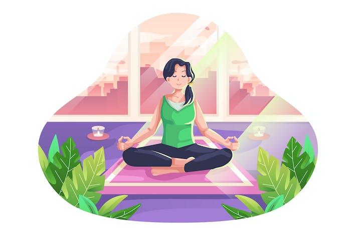 Meditation-Illustration