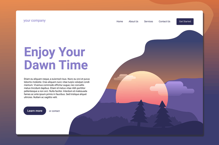 Thumbnail for Dawn Time - Landing Page