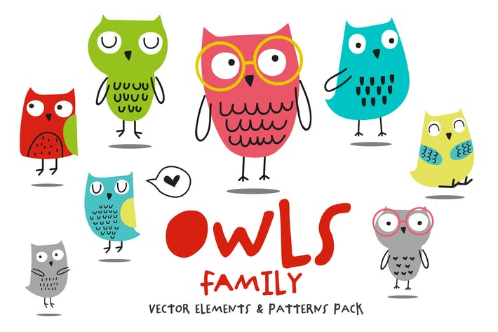 Thumbnail for Owls Family Pack