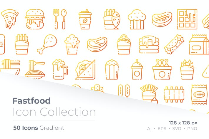 Thumbnail for Fast Food Gradient Icon