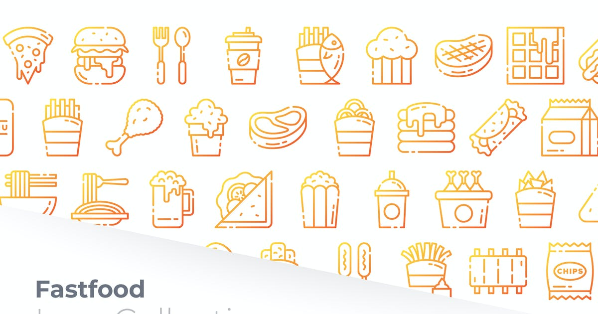 Download Fast Food Gradient Icon by GoodWare_Std