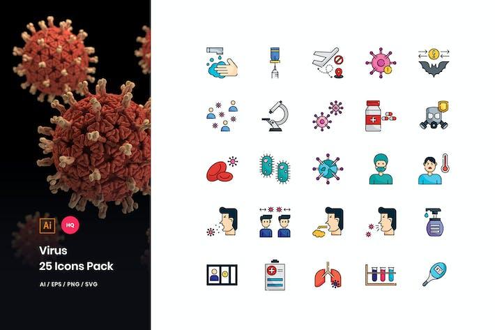 Thumbnail for Virus Transmission Icons Pack