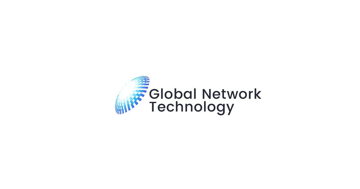 Download Global Network Digital Technology Logo template by NEWFLIX