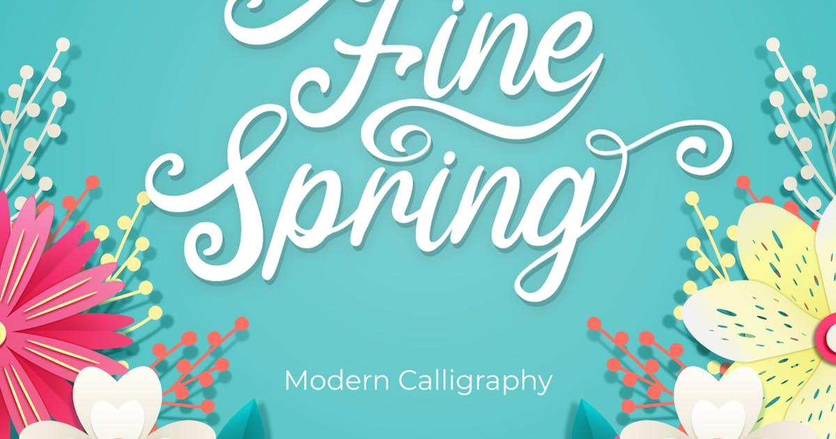 Download Fine Spring - Script Font by Attype-Studio