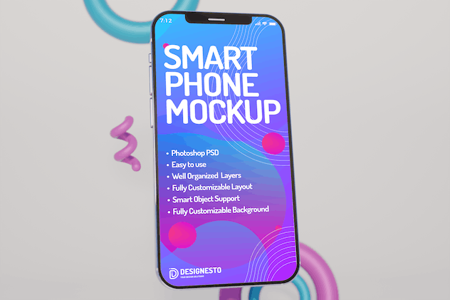 Iphone 12 Front View – Mockup Template