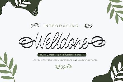 Welldone | Fuente de escritura manuscrita