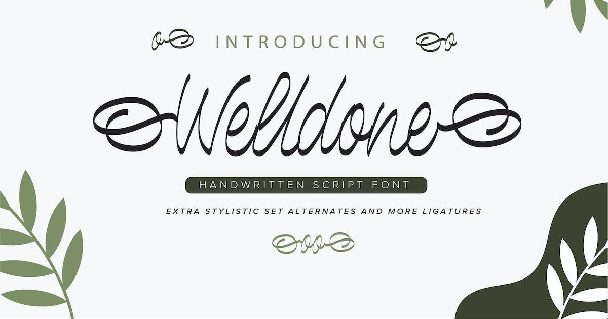 Download Welldone | Handwritten Script Font by Vunira