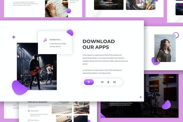Chordia - Музыка Google Слайды Шаблон