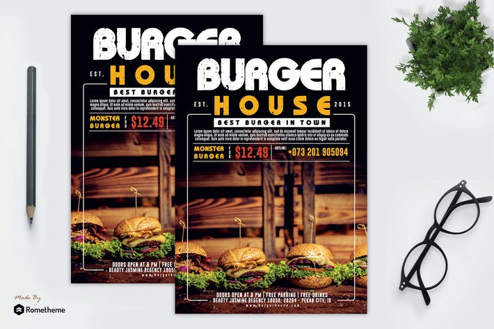 Thumbnail for Burger Restaurant Flyer vol.02