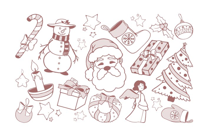 Cover Image For Christmas Drawings Doodles