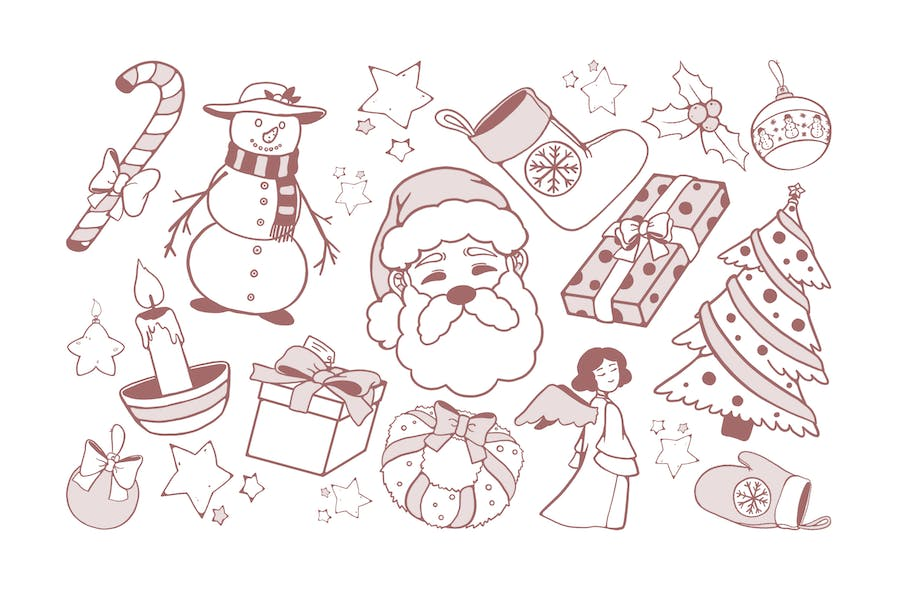 Christmas Drawings Doodles
