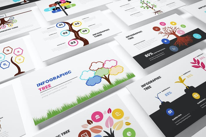 Tree Infographic Keynote Template