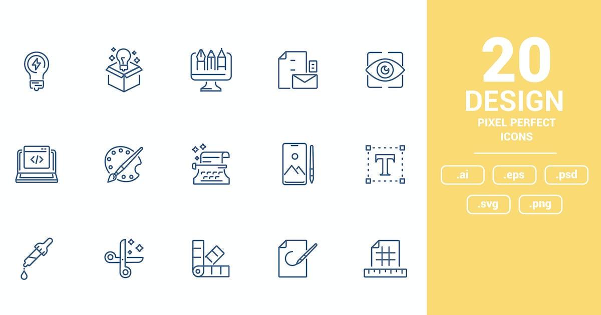 Download Flat line icons design - Design by graphics4u