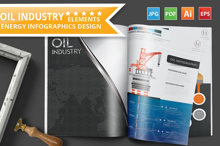 Thumbnail for Oil Industry Infographics Design