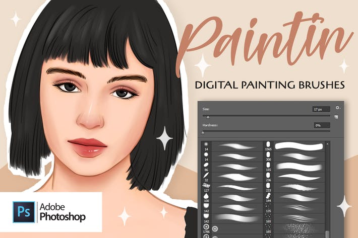 Thumbnail for Кисти Paintin для Adobe Photoshop