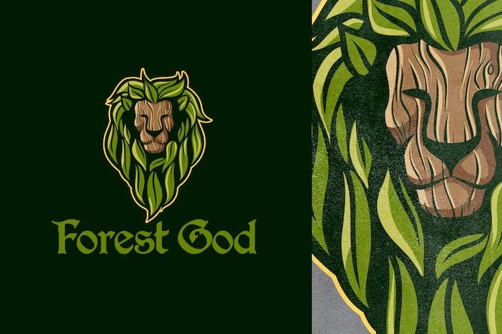 Thumbnail for Forest God - Leaf Lion Mascot Logo 10.0
