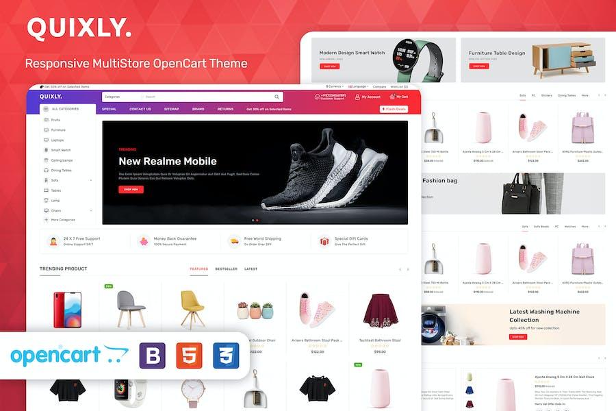 Quixly - Multipurpose Opencart Responsive theme