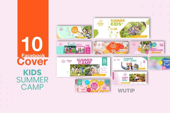 Thumbnail for 10 Facebook Cover - Kids Summer Camp