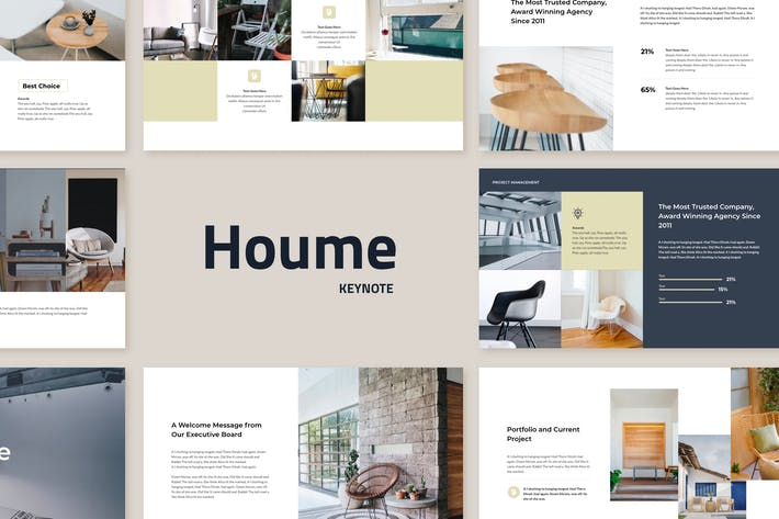 Cover Image For Houme - Modern Keynote Template