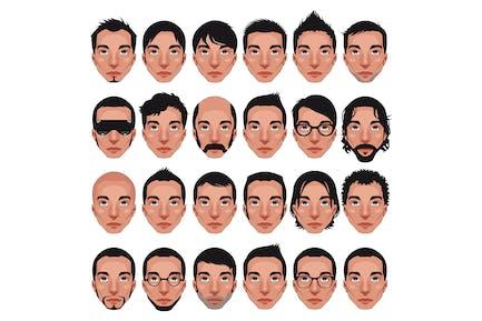 Avatar, Männer Portraits