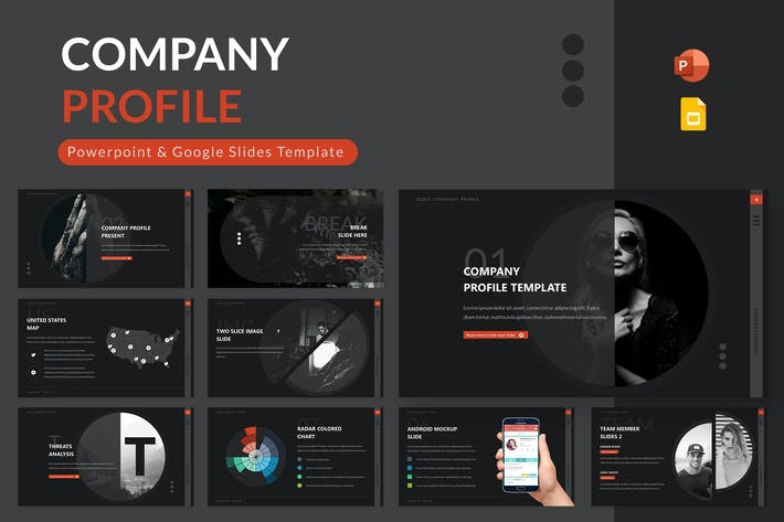 Company Profile Powerpoint & Google Slides