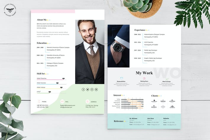 Thumbnail for Graphic Designer CV Template