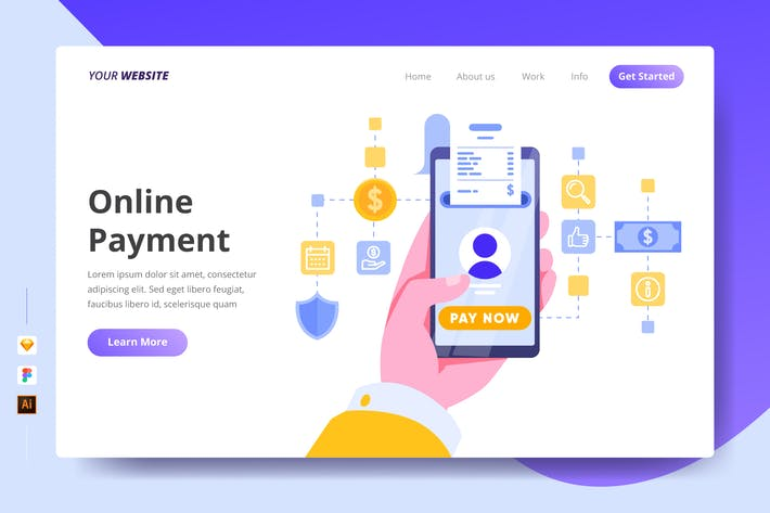Thumbnail for Online Payment - Landing Page