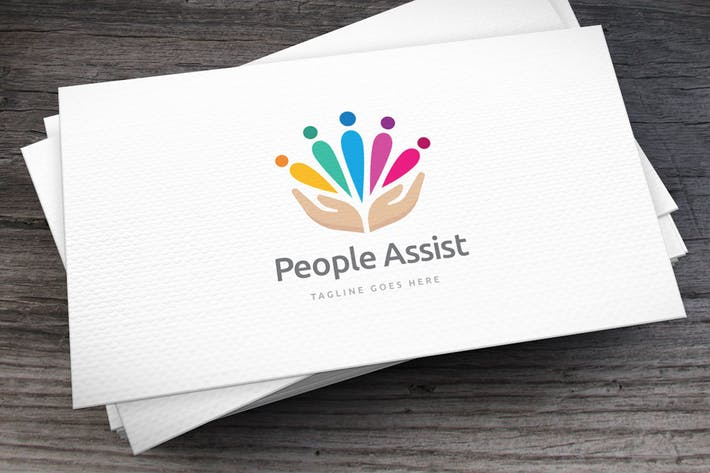 Thumbnail for People Assist Logo Template