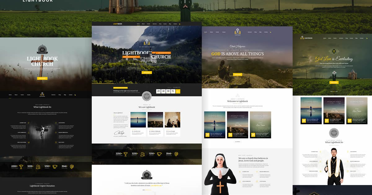 Download LightBook - Church PSD Template by Unknow