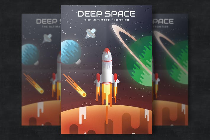 Thumbnail for Flat Space Poster Template