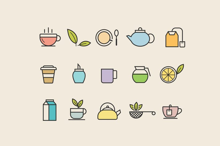 Thumbnail for 15 Tea Icons