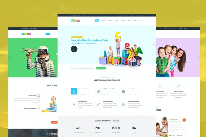 Thumbnail for Koudo - Kindergarten PSD template