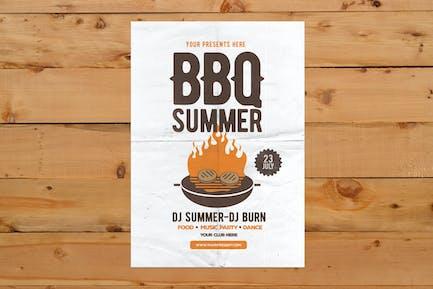 BBQ Sommer Flyer