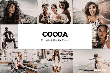 20 Cocoa Lightroom Presets & LUTs