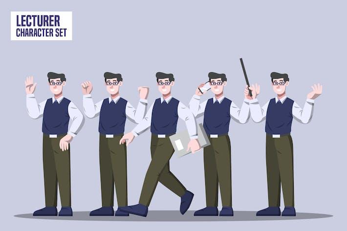 Lecturer - Character Set Illustration