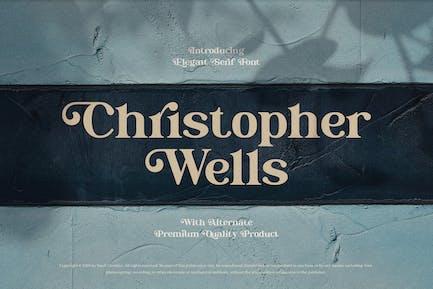 Christopher Wells - Elegante fuente de Con serifa
