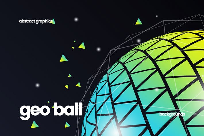 Cover Image For Geometric Ball Backgrounds