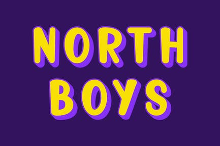 North Boys - Playful Layered Font