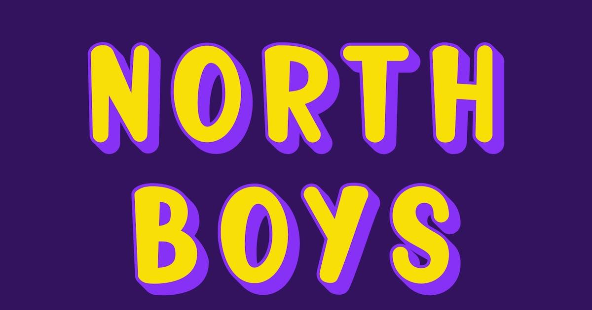 Download North Boys - Playful Layered Font by deemakdaksinas