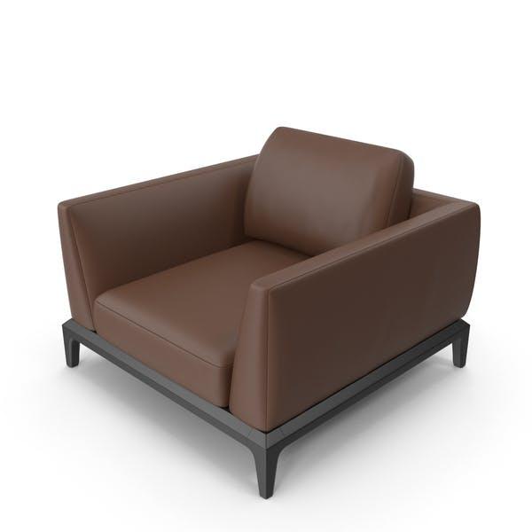 Офисный стул темно-коричневый