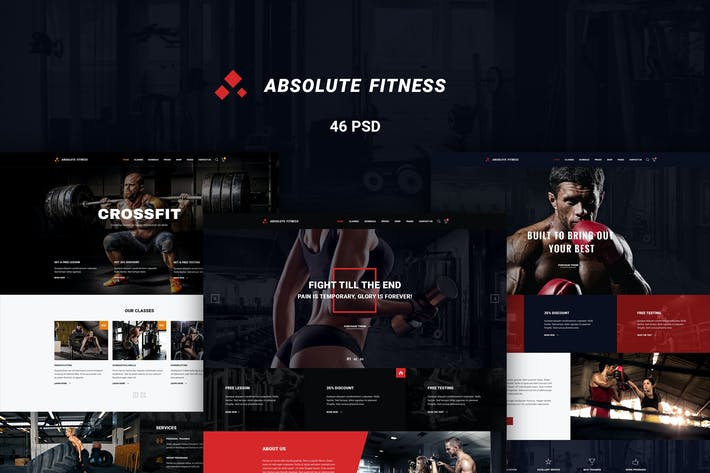 Thumbnail for Absolute Fitness - PSD Template