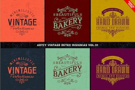 Artsy Vintage Retro Insignia and Logos Vol.01