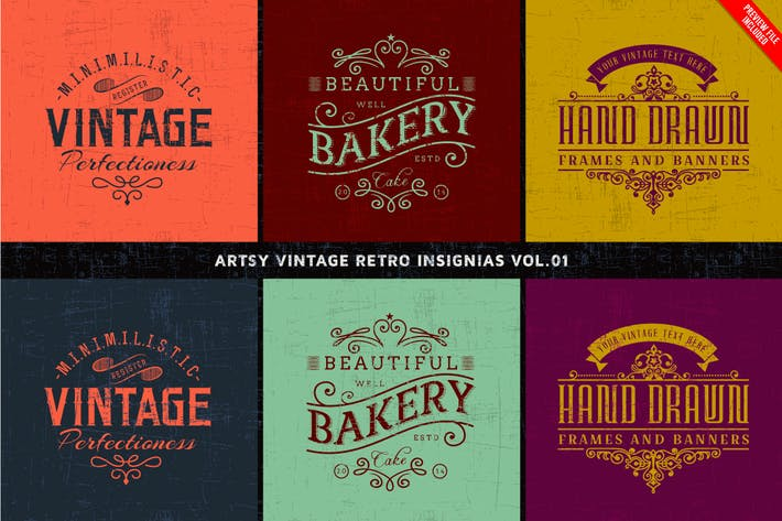 Thumbnail for Artsy Vintage Retro Insignia and Logos Vol.01