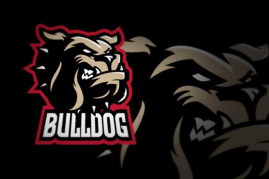 Bulldog E Sport Logo Illustration