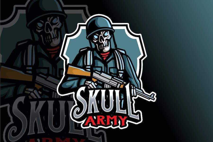 Skull Army Logo Template