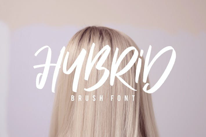 Thumbnail for Hybrid Brush Font