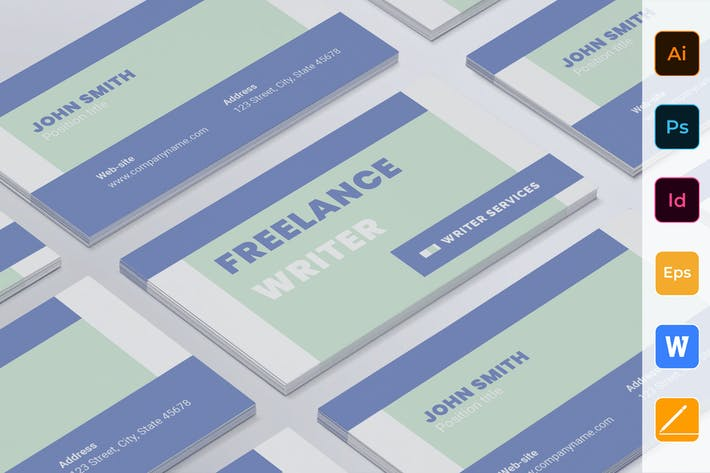 Thumbnail for Freelance Writer Business Card