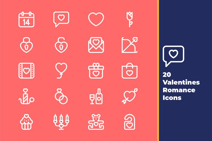 Cover Image For Valentine Romance Icons